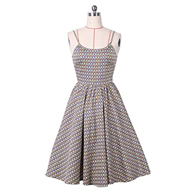 Vintage Dress Retro Style Strap Summer Dress For Women Plus Size Party Casual Dress Feminino Rockabilly Vestidos at Amazon Womens Clothing store:
