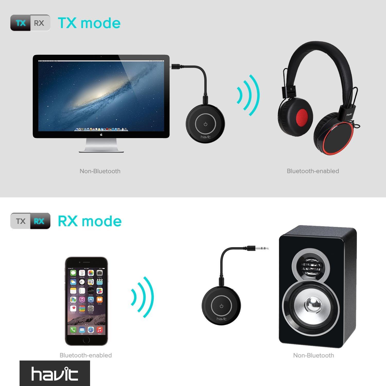 HAVIT V4 1 Bluetooth Adapter Transmitter Empfänger Amazon