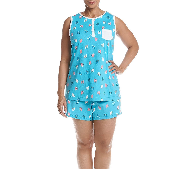 Intimate Essentials Plus Size Flip Flops Pajama Set