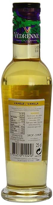 Vedrenne Vanilla Syrup 250 ml (Pack of 6)