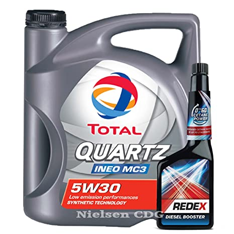Total Quartz Ineo MC3 5W30 Aceite 5L + Redex Diesel 0 a 60 Cetane Booster 500