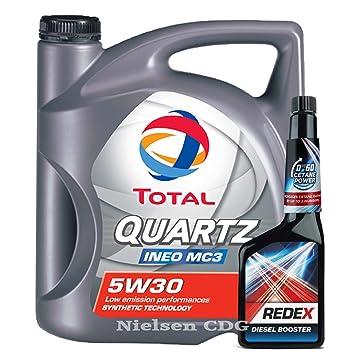 Total Quartz Ineo MC3 5W30 Aceite 5L + Redex Diesel 0 a 60 ...