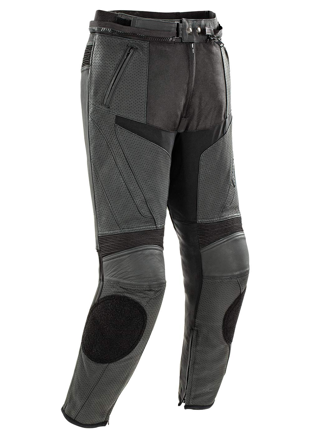 Black, Size 36 Joe Rocket Stealth Sport Mens Leather Perforated Motorcycle Pants