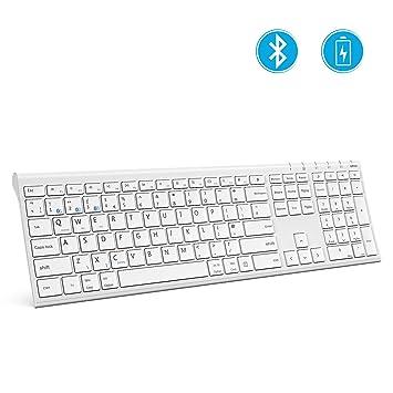 54e5bdc28f8 Bluetooth Keyboard Multi-Device, Jelly Comb KUS-015C Universal Wireless  Keyboard Ultra Slim