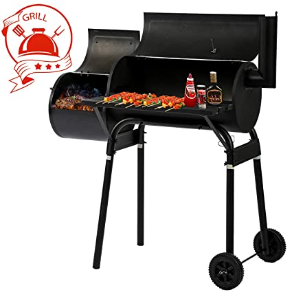 9166dbd5ee Amazon.com: BBQ Grill Charcoal Barbecue Outdoor Pit Patio Backyard Home Meat  Cooker Smoker Process Paint Not Flake Black: Garden & Outdoor