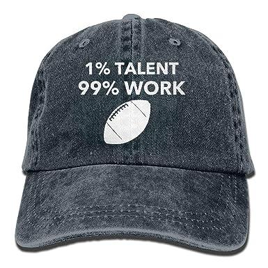 PMNADOU 1 Talent 99 Work Denim Baseball Caps Hat Adjustable Cotton
