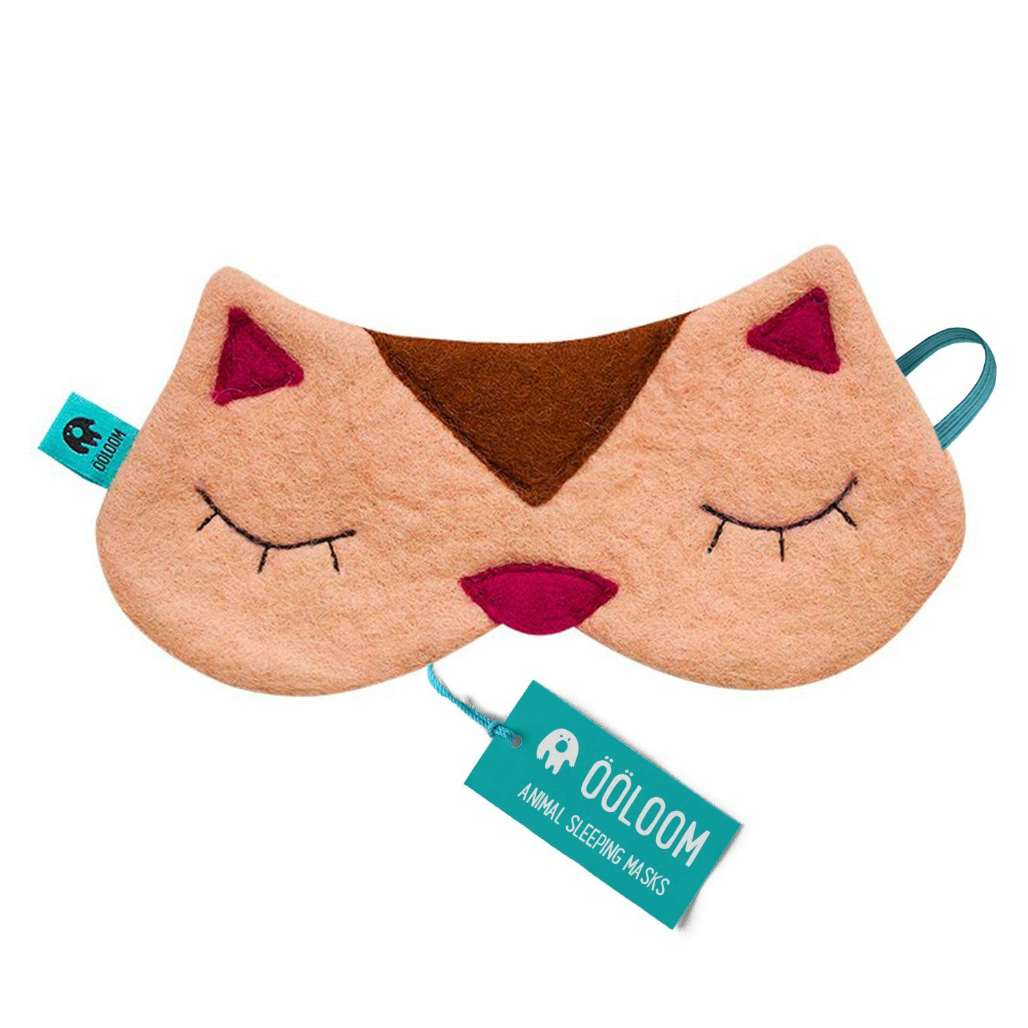 Cute Kitty Sleeping Mask - Beautifully Designed Gifts for Women & Men, Soft & Comfortable Blindfold for Total Blackout & Light Blocking, Best Eye Cover & Ultimate Sleep Aid for Travel & Night Sleep