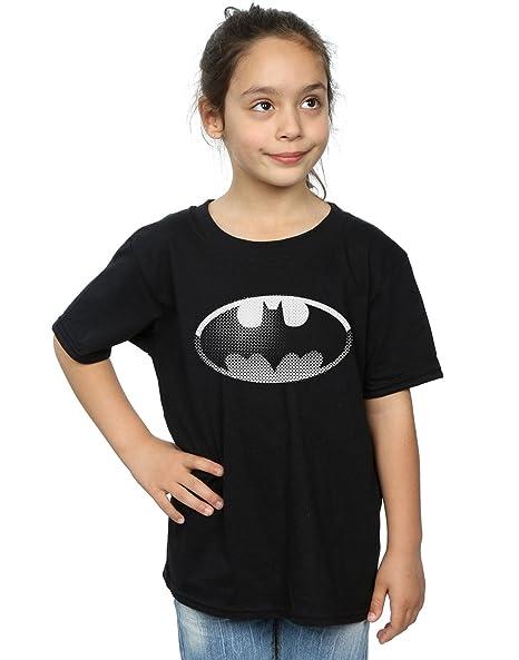 8075b454 Amazon.com: DC Comics Girls Batman Spot Logo T-Shirt: Clothing