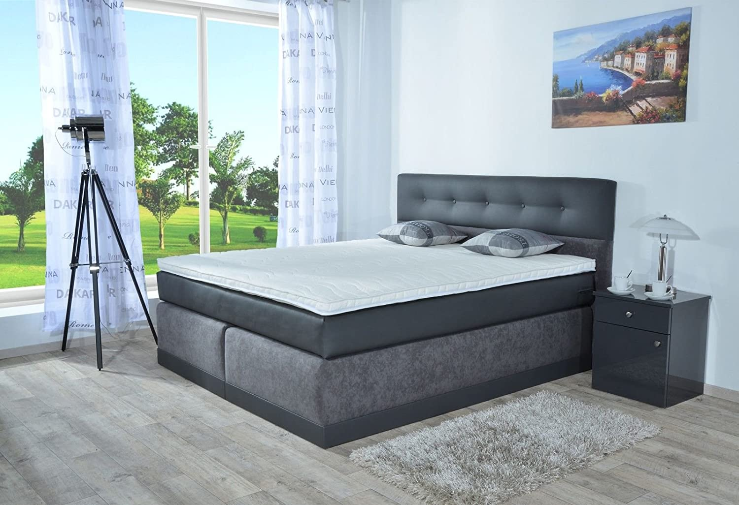 boxspringbett ivon sb auch mit bettkasten oder elektrisch. Black Bedroom Furniture Sets. Home Design Ideas