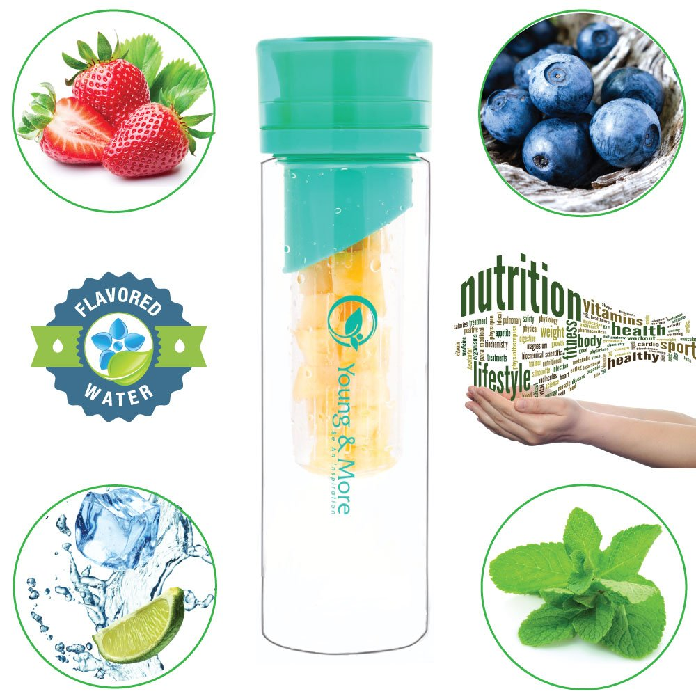 young ebody Amazon.com: Infuser Water Bottle 24 Oz - Made with TRITAN BPA Free - Young  & More N2589 - Free Recipe Ebook Download: Sports & Outdoors