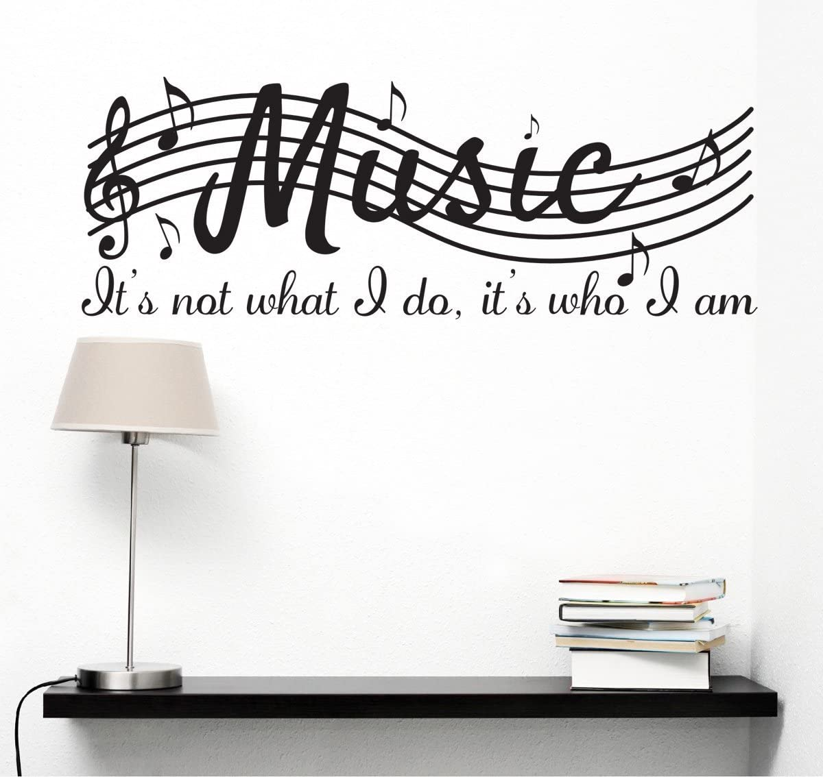 Amazon Com It S Not What I Do It S Who I Am Music Home Vinyl Wall Decals Quotes Sayings Words Arts Decors Lettering Vinyl Wall Stickers 30 W X 12 H Black Kitchen