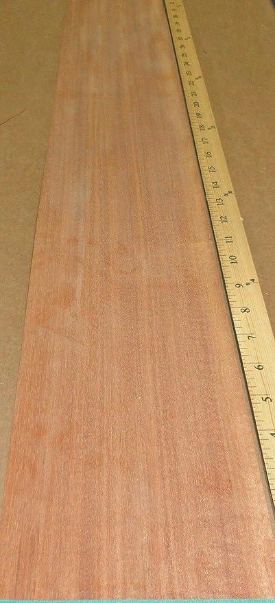 Ribbon Mahogany Sapele Wood Veneer 6 X 87 Raw No Backing 1 42