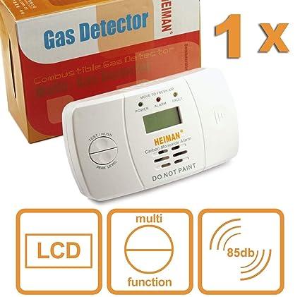 heiman Co monóxido de carbono Detector de monóxido de carbón de Warner Detector con electroquímicos Sensor