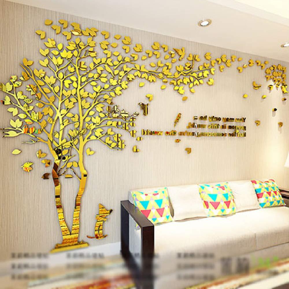 XWH Kreativer Baum   3D   Stereo     Wandaufkleber Wohnzimmer   Sofa TV Hintergrund Wand   Indoor Zimmer   Wasserdicht B07GLFM2V3 | Sonderkauf