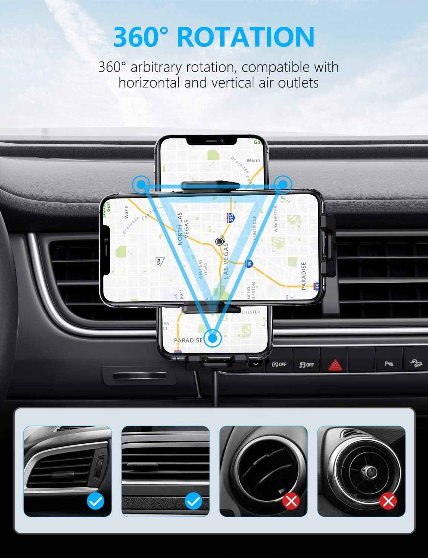 Mi 9//10//Samsung S20 // Note 10,Y Todos Los Dispositivos Qi Soporte M/óvil con Carga R/ápida Qi de 15W// 10W// 7.5W OMOTON Cargador Inal/ámbrico Coche para Autom/óvil Compatible con iPhone XR//11//SE 2020//8