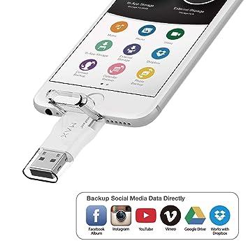 Photofast] Gigastone 32GB iPhone Flash Drive, Lightning and PC USB