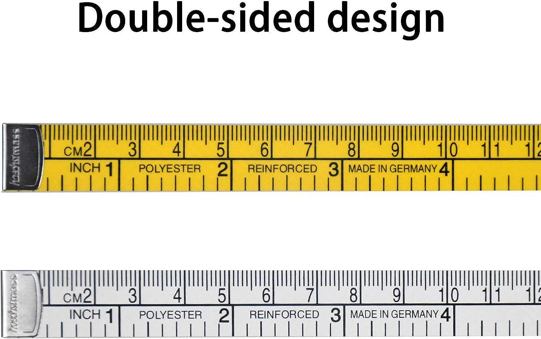 152cm//59.8Inch Metro per Sarto 2 Pcs Nastro da Sarto Metro a Nastro Doppio Lato Metro per Misurazioni del Corpo Nastro di Misurazione per Cucire Sarto Panno Righello Misura di Perdita di Peso