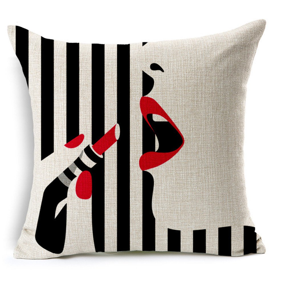 Vintage Lipstick Beauty Pillow...