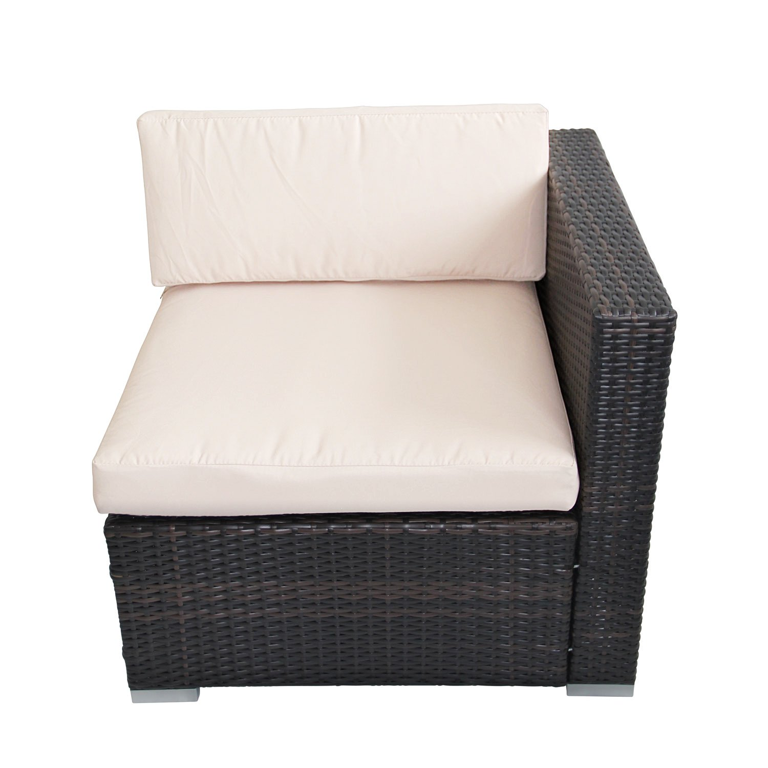 Outsunny Rattan Garden Wicker Patio Furniture Cushion Cover Sofa Cover  Replacement: Amazon.co.uk: Garden U0026 Outdoors