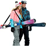 Volk Ski Strap and Pole Carrier 2 Pack - Skiing Accessory for Easy Transportation of Your Ski Gear - Feel Comfortable Walking