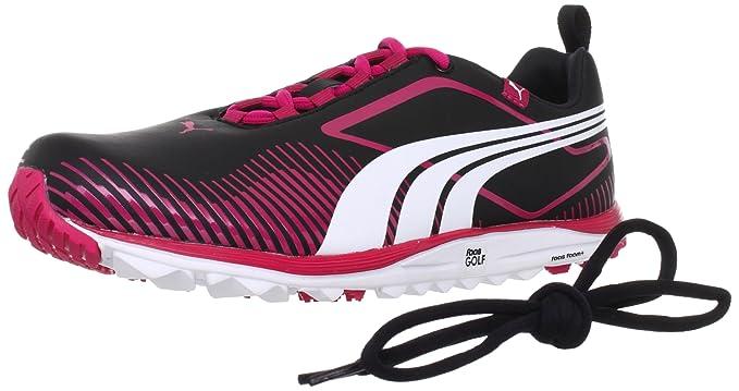 Puma Damen Faas Lite Wns Golf Golfschuhe black/white/virtual pink 4