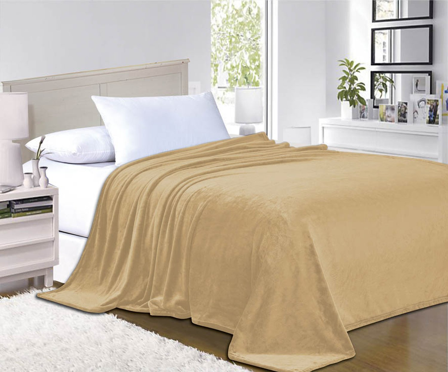 Elegant Comfort® #1 Fleece Blanket on Amazon - Super Silky Soft