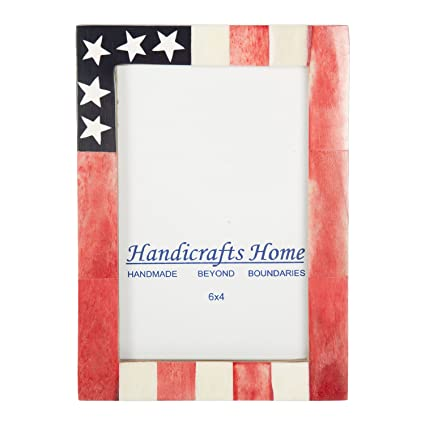 Amazon Com Handicrafts Home Usa American Flag Picture Photo Frame