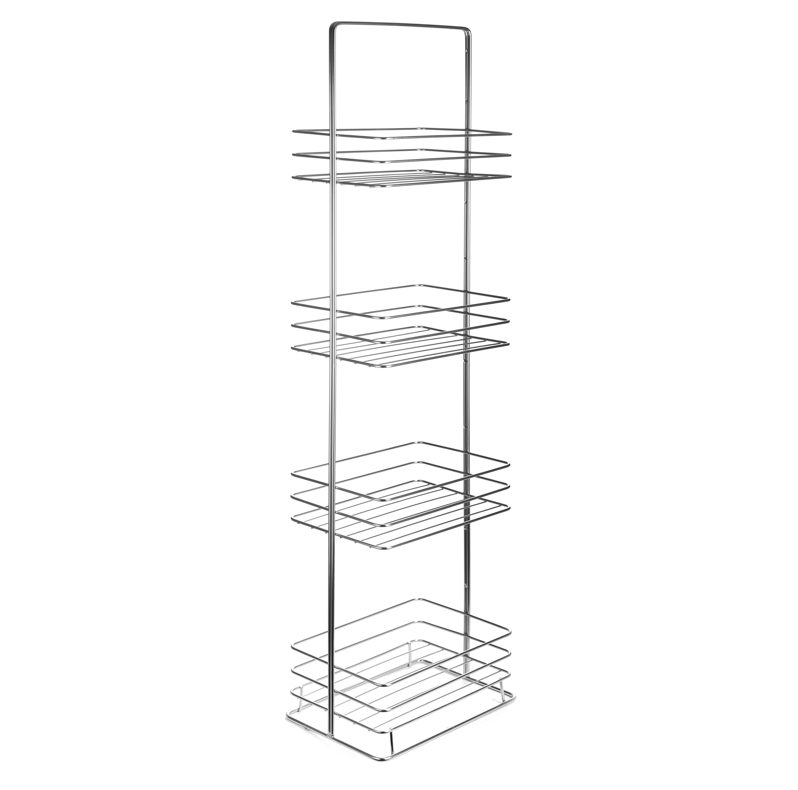 AMG and Enchante Accessories Free Standing Bathroom Spa Tower Storage Caddy, FC100002 CHR, Chrome by AMG (Image #6)