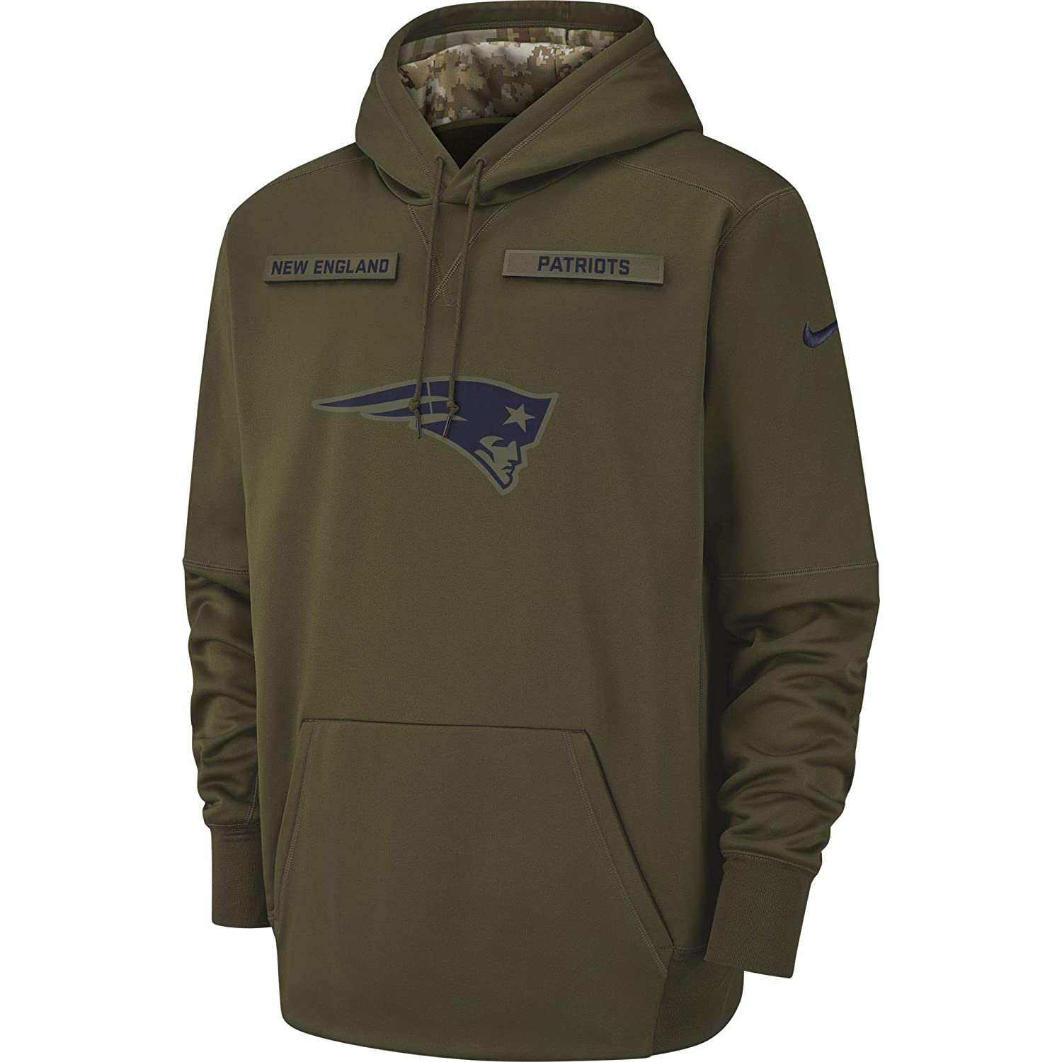 info for 95751 3f492 Nike Men's New England Patriots Therma Fit Pullover STS Hoodie