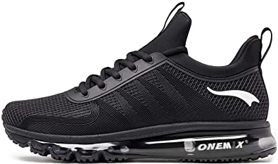 best sneakers 0fd28 6b033 ONEMIX Running Shoes Men Lightweight Fashion Sneakers Athletic Sport Air  Cushion Shoes 1191 Black 7