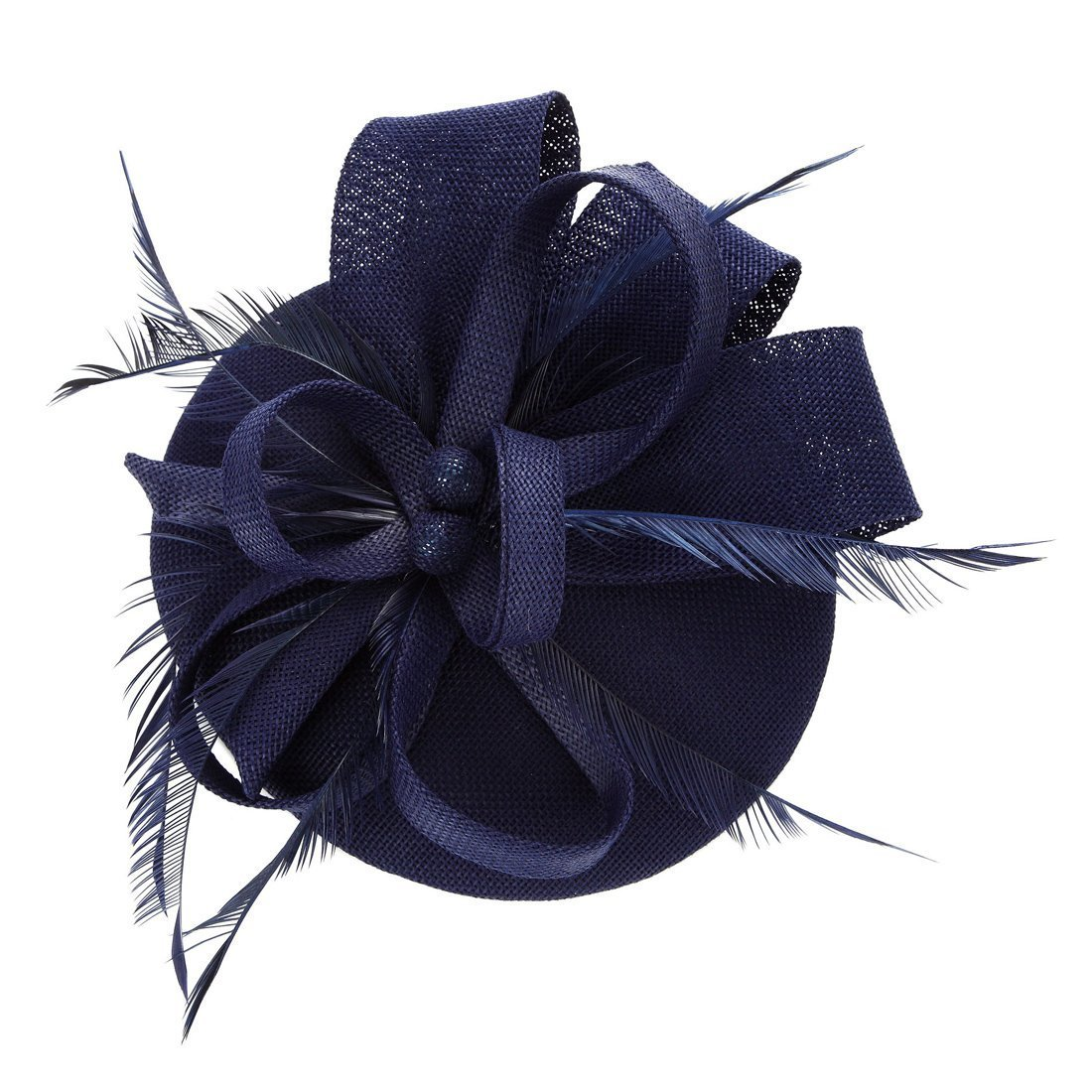 Merya Dress DotVeil Kentucky Derby Fascinator Hats Feather Prom Cocktail Tea Party Hats FastorCB001Black