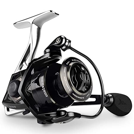 KastKing Megatron Spinning Reel, Great Saltwater Spinning Fishing Reel, Rigid Aluminum Frame 7 1 Double-Shielded Stainless-Steel BB, Over 30 lbs. Carbon Drag, CNC Aluminum Spool Handle
