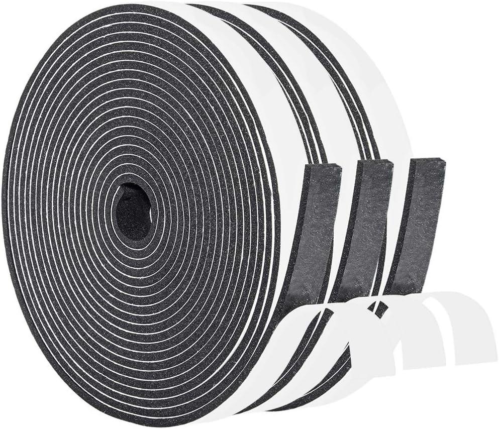 "Neoprene Sheet Rubber Strip 1//8/"" Thk x 4/"" W x 30 Foot 1-pc Roll 60 Duro"