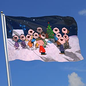 Stockdale Christmas Garden Flag Charlie Brown Home Yard Banner Outdoor Decor 3X5 Ft