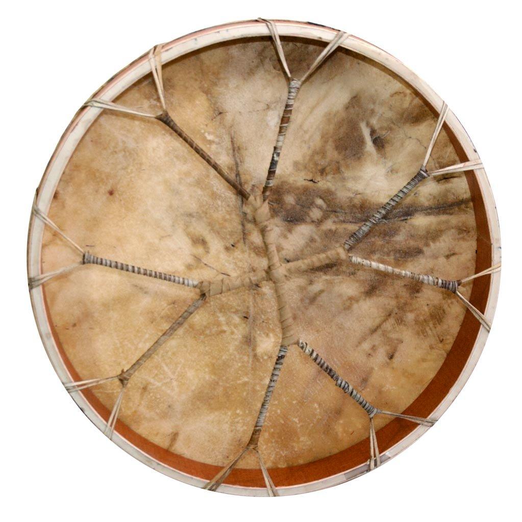 Shaman drum Cow plain 20'', Frame Drum, handmade by Terre (Image #3)