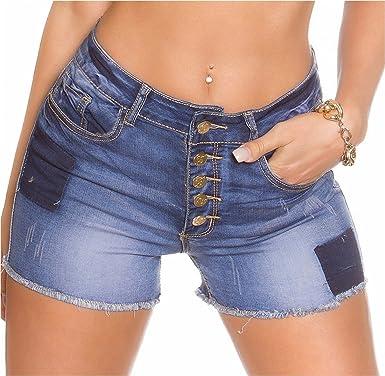 0b01860be5f722 best in style´n fashion Koucla Jeans Denim Shorts Damen High Waist Hot Pants  Mini