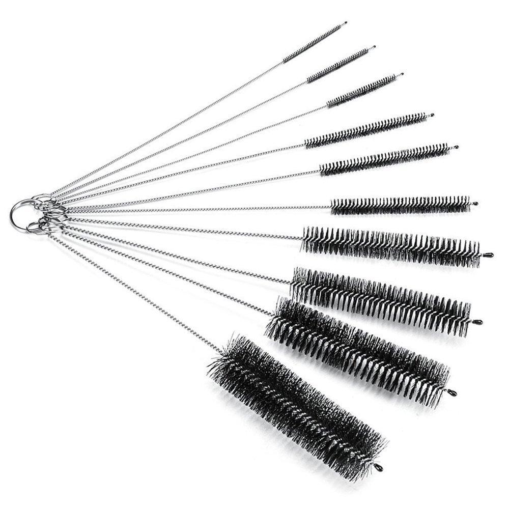 Bouteille de brosse de brosses /à tube fines poils chauffage Lot de 10. verre brosses de nettoyage tuyaux Nettoyer Outils pour ouvertures douilles Brosse