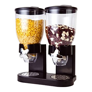 Dispensador de cereales secos con doble depósito de plástico, de Taylor & Brown®