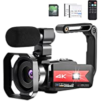 OIEXI Video Camera 4K Camcorder Vlog Camera for YouTube, HD Digital Camera with 16X Digital Zoom and Night Vision, Video…