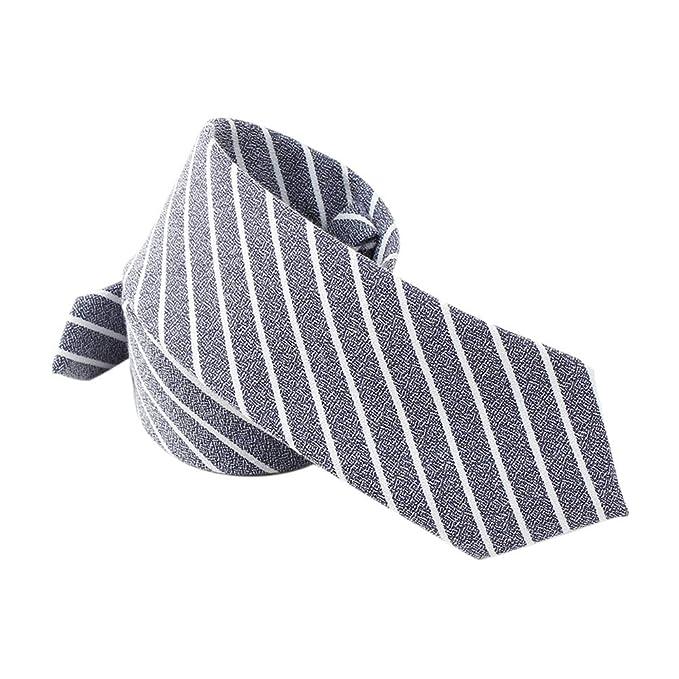 JUNGEN Corbata de Hombre Corbata Estampada de Rayas Corbata ...