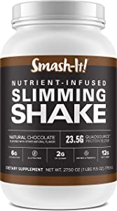 Primal Labs Smash-It! Nutrient Infused Low Carb Protein Powder for Weight Loss, Keto Meal Replacement Shake Powder, Gluten-Free Whey Protein Powder, Delicious Chocolate Flavor, 780 Grams