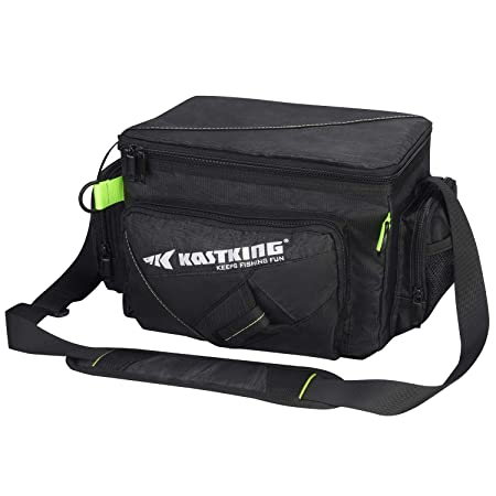 KastKing Tackle Bags, Fishing Tackle Bag with Waterproof Pocket, Adjustable Padded Shoulder Strap Handles, Plier Holster