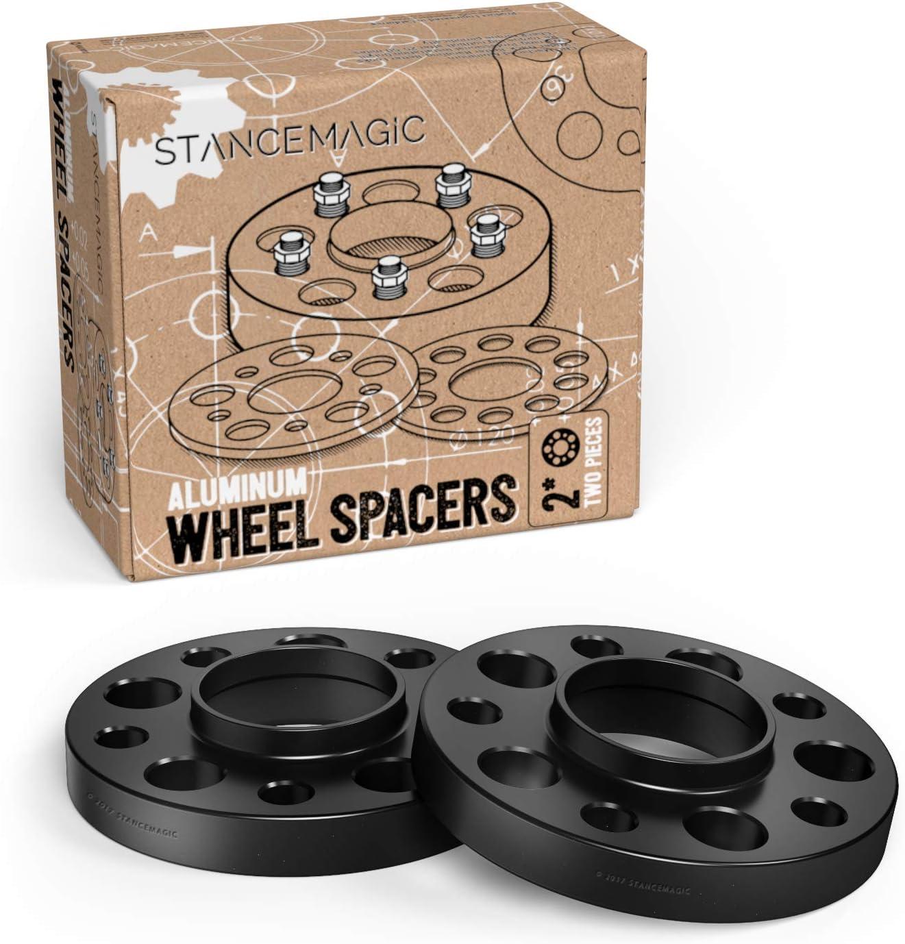 2x25mm Black Hub Wheel Spacers 5x130 for Porsche Cayenne 3.6 GTS 3.0 S E-Hybrid