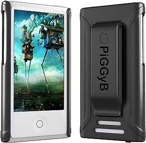 PiGGyB Clip IT! iPod Nano 7th & 8th Generation Rubber Case with Clip (Black)