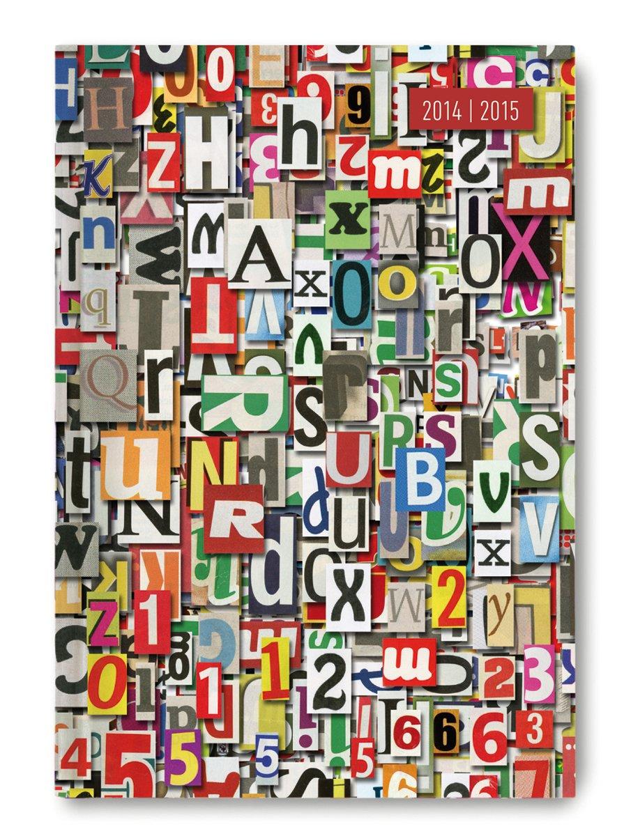Collegetimer Letters 2014/2015 - Schülerkalender A5 - Weekly - 224 Seiten
