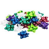 Bows for Gifts - Bows for Wrapping Presents - 25 Peel and Stick, Self Adhesive, Assorted Colors