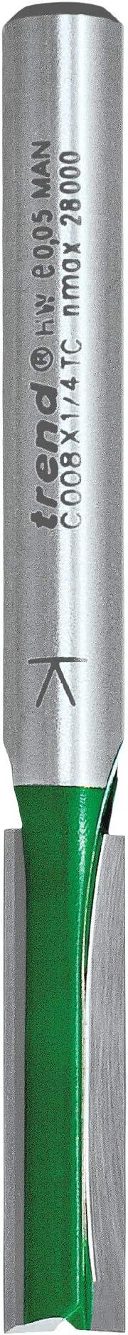 TREND 3//8Lx1//4TC ROUTEUR PROFESSIONNEL Coupeur Deux Flute 12.0 mm Dia x 19.0 mm Cut