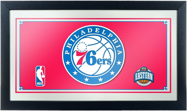 NBA Philadelphia 76ers Framed Logo Mirror