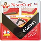 NeverCurl Best V Shape Design to Instantly Stops Rug Corner Curling. Safe for wood floors. For Indoor & Outdoor Rugs…
