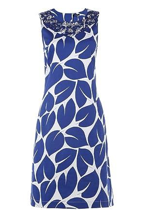 Roman Originals Womens Statement Leaf Floral Print Shift Dress